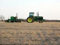 John Deere 4955 with JD No-Till Drill