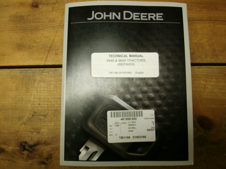 John Deere 8440 and 8640 Tech manual TM1199